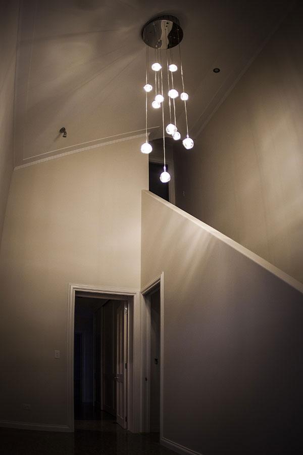 Mt Barker home hanging lights in Wanaka