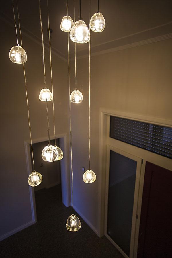 Mt Barker House hanging lights in Wanaka